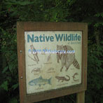 Northwest Portland audubon Society Wildlife sign